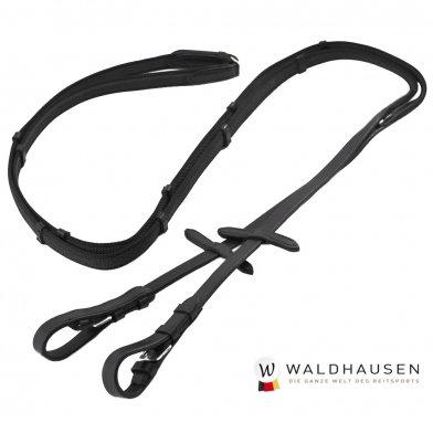 ノンスリップ手綱 WRA1(黒 ブラック) Waldhausen