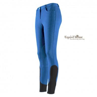 [ジュニア用] Equi-Theme キュロットECF3 子供用 乗馬ズボン パンツ(水色×ブラック)