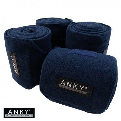 ANKY フリースバンテージ AFB3 肢巻4本セット(紺 ネイビー)