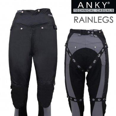 ANKY レインレッグスAR2 雨具レッグカバー(黒 ブラック)  【ゆうパケット送料無料】