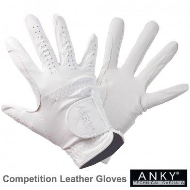 ANKY レザーグローブ 本革手袋 競技用 AG10 [男女兼用] (ホワイト 白) 【メール便 送料無料】