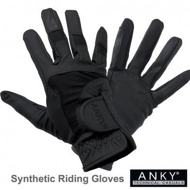 ANKY ライディング・グローブ 合皮手袋 AG21 [男女兼用] (ブラック 黒) 【メール便 送料無料】