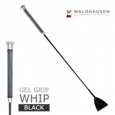ゲルグリップ 短鞭 SWB1(黒ブラック) Waldhausen 50cm/65cm
