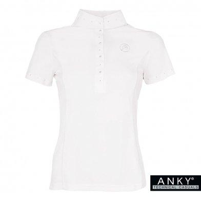 ANKY 競技用 半袖ショーシャツ ASR1 [レディース] ラインストーン(ホワイト 白) コンペティションシャツ