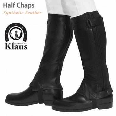 Klaus ハーフチャップス KH 合皮 人工皮革(ブラック 黒)
