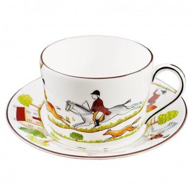 WEDGWOOD ウェッジウッド ハンティングシーン ティーカップ&ソーサー 乗馬 コーヒーカップ(ギフトボックス入り)