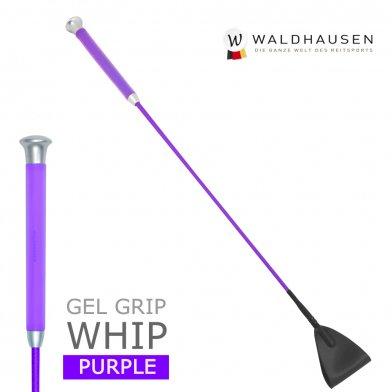 ゲルグリップ 短鞭 SWB3(紫パープル) Waldhausen 50cm/65cm