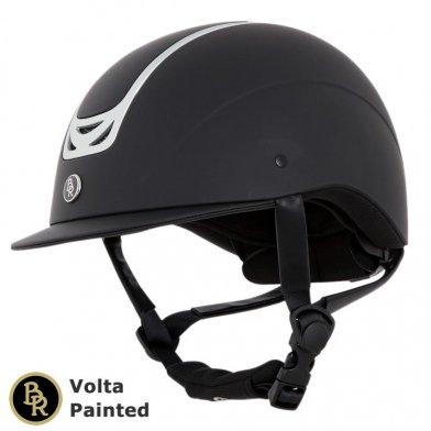 BR 乗馬用ヘルメット Volta Painted BRH11(黒 マットブラック)