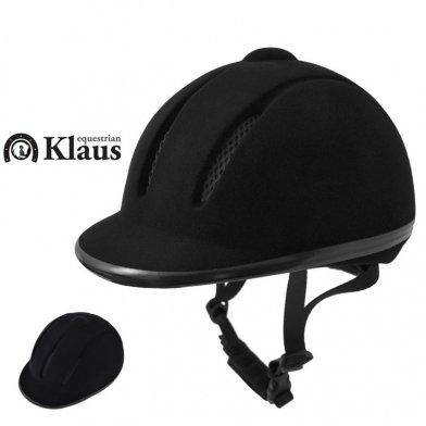 Klaus 乗馬用 Air通気ヘルメットC ベルベット (サイズ調節/インナー洗濯可)