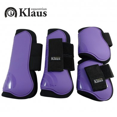 Klaus 馬レッグプロテクター 前後肢4点セット ホースブーツ(パープル 紫)