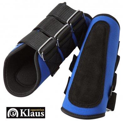 Klaus ネオプレーン・ホースブーツ 左右肢2点セット 馬レッグプロテクター(青 ブルー)