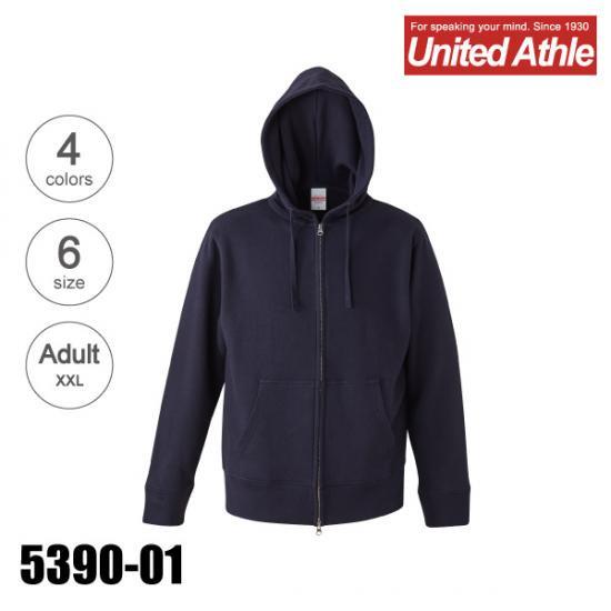 UnitedAthle/ユナイテッドアスレ 5390-01 9.3オンス レギュラー パイル スウェット フルジップ パーカ
