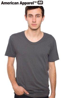 アメリカンアパレル AmericanApparel3.8ozシアジャージー ルーズクルーサマーTシャツ