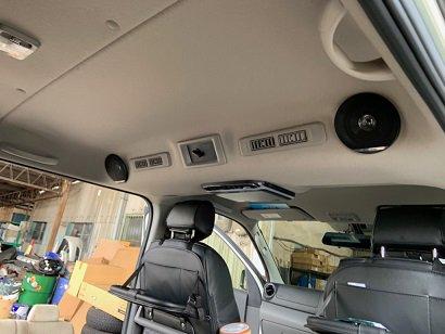 NV350 セカンドルーフ スピーカー取り付け施工