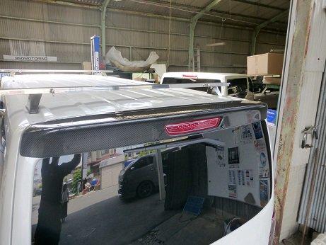NV350 Rルーフスポイラーカーボン