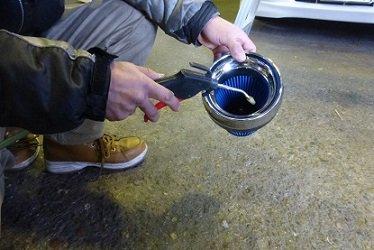 カーボンチャンバーフィルター清掃方法