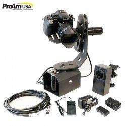 【ProAm】 TigerTilt カメラクレーン/ジブアーム用 電動雲台 電動リモートパン/チルトヘッド リモコン付