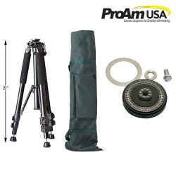【ProAm】 カメラクレーン/ジブアーム用 三脚 Heavy Duty Tripod & ベアリングマウント