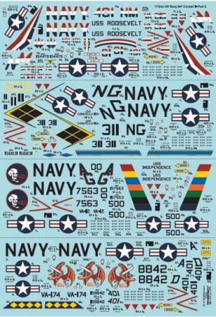 エクストラデカール X72241 US NAVY A-7 コルセアII Pt.2  1/72