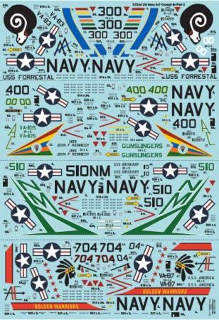 エクストラデカール X72242 US NAVY A-7 コルセアII Pt.3  1/72