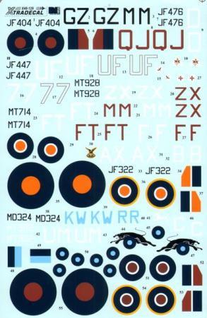エクストラデカール X48129 スピットファイア Mk.VIII 1/48