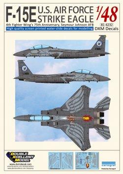 DXM Decals #81-4232 USAF F-15E ストラ...