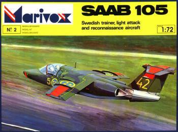 MARIVOX #7202 サーブ SAAB 105 試作複座ジェット戦闘機 1/72