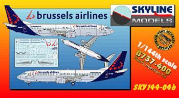 スカイライン/DACO #144-04b B737-400 ブリュッセル航空 1/144