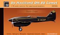 S.B.S. Model #7004 デ・ハビランド DH.88 コメットレーサー (黒) 1/72