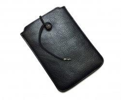 iPad mini ケース ブラックヘビーレザー クロスボタン
