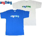 aNYthing(���˥���)  THE THROWBACK LOGO  TEE