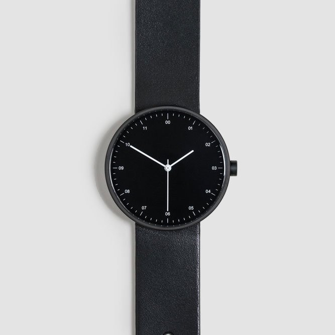 BLACK CASE × BLACK STRAP / 02 - WRIST WATCH 35mm Boy's Face
