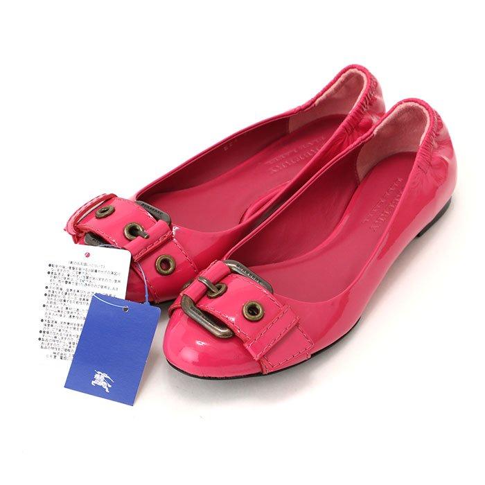 【新品】 フラットシューズ 5 バーバリーブルーレーベル 47211 BURBERRY BLUE LABEL ピンク系 レディース