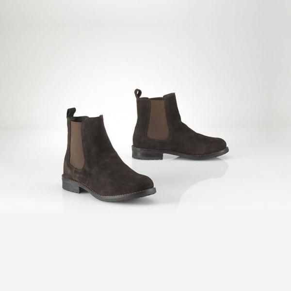 【ラルフローレン】Chelsey Suede Boot チェルシースエードブーツ