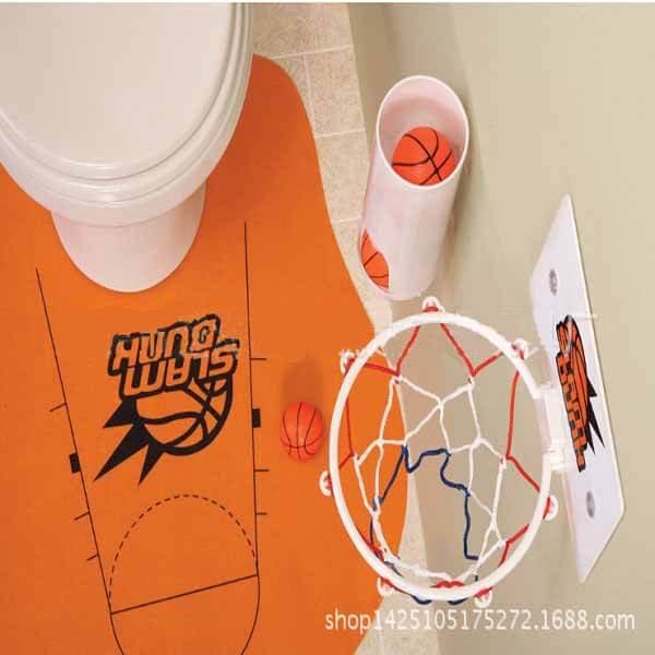 トイレでも遊べるバスケゲームバスケットマット入り【画像2】