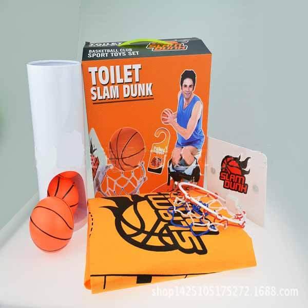 トイレでも遊べるバスケゲームバスケットマット入り【画像3】