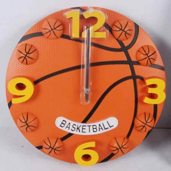 (訳ありのため、割引販売) 存在感抜群のバスケットボール型ウォールクロック