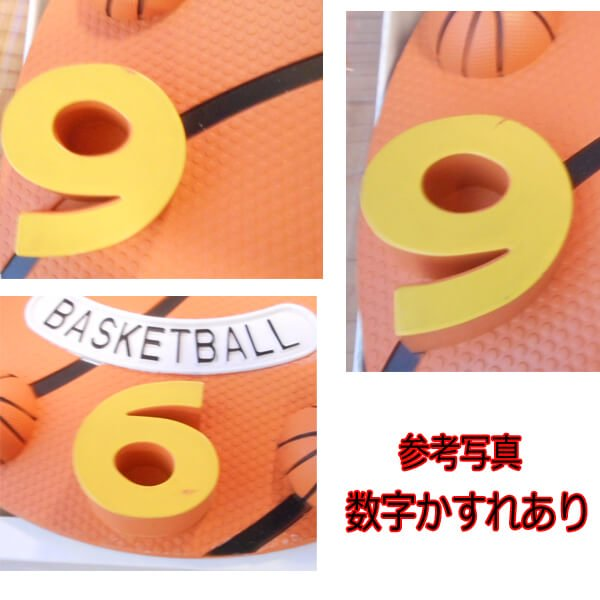 (訳ありのため、割引販売) 存在感抜群のバスケットボール型ウォールクロック【画像3】