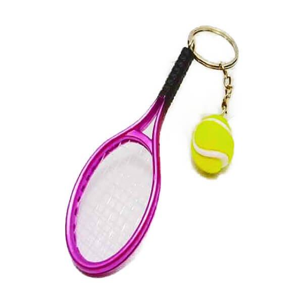 アクセサリカラフルテニスラケットとテニスボールのダブルキーホルダー1個【画像11】