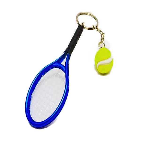アクセサリカラフルテニスラケットとテニスボールのダブルキーホルダー1個【画像12】