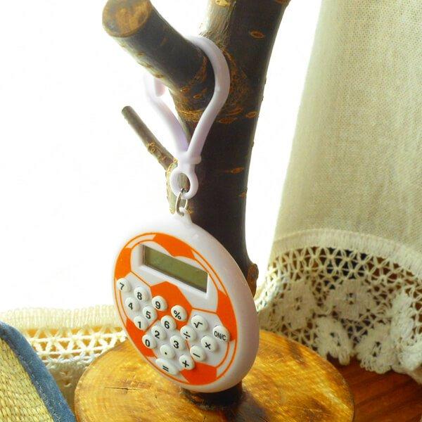 フック付きサッカーボール型ミニ電卓 1個【画像4】