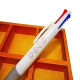 野球ボール柄入りのかわいいオリジナル4色ボールペン