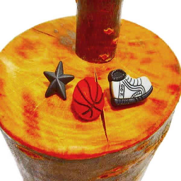 バスケットボールボタンセット Ver1 (バスケットボール・シューズ・星)