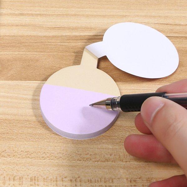 卓球ラケット型の可愛い付箋紙メモ【画像4】
