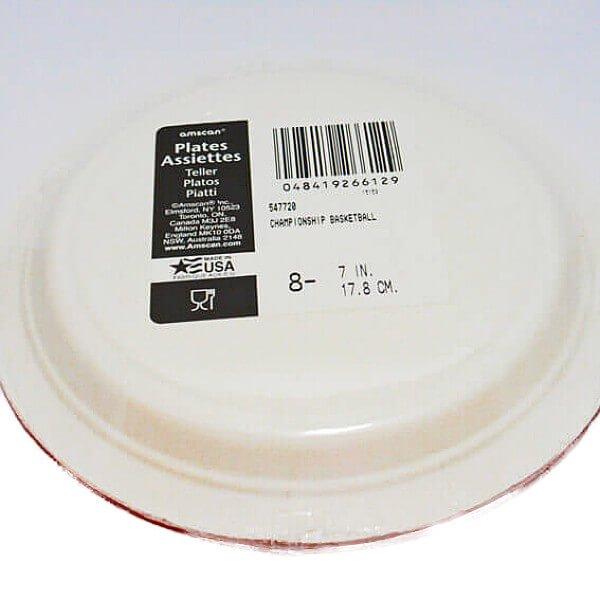 バスケットボール柄の紙皿(8枚入り)【画像3】