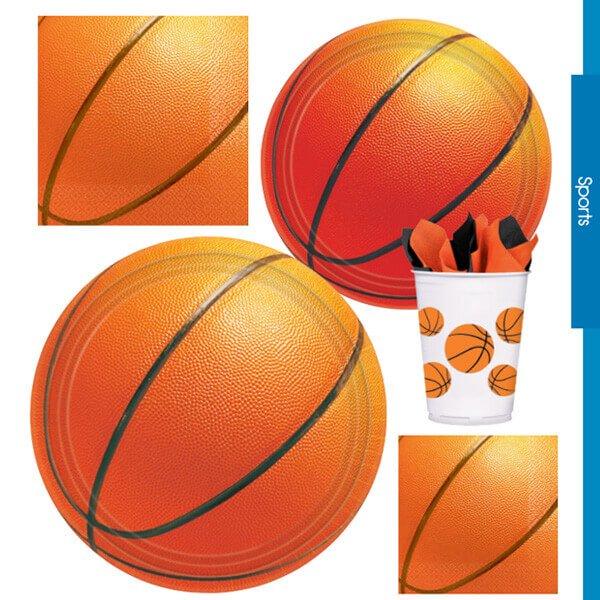 バスケットボール柄の紙皿(8枚入り)【画像5】