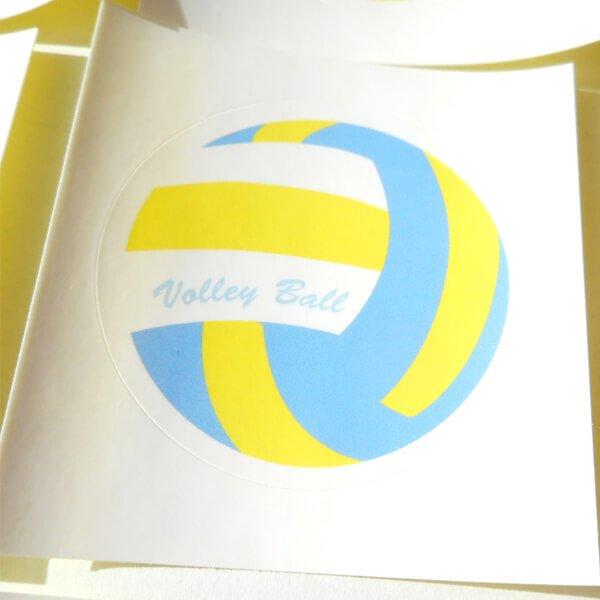 バレーボールグッズ セット購入がお得! バレーボール型の可愛いシール ボール直径4センチ 単価 19円〜