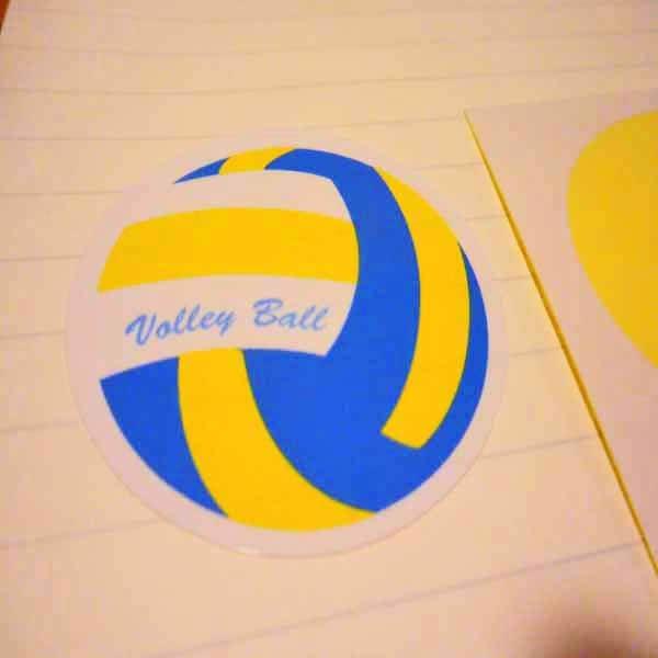 バレーボールグッズ セット購入がお得! バレーボール型の可愛いシール ボール直径4センチ 単価 19円〜【画像3】