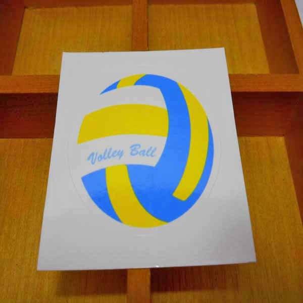 バレーボールグッズ セット購入がお得! バレーボール型の可愛いシール ボール直径4センチ 単価 19円〜【画像5】