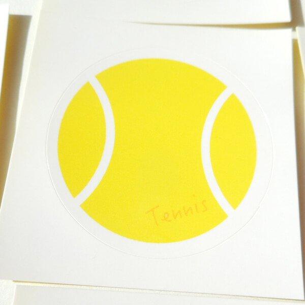 テニスボールグッズ セット購入がお得! テニスボール型の可愛いシール ボール直径4センチ 単価 19円〜